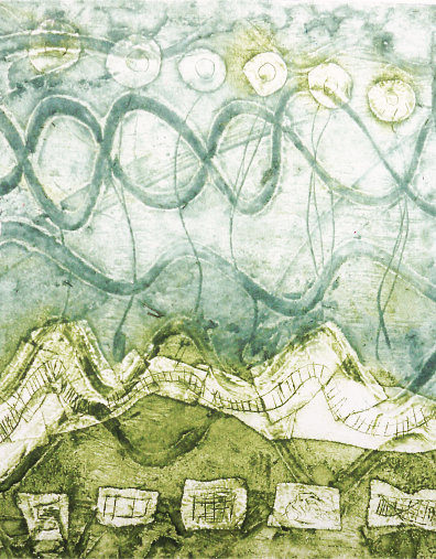 Original Collagraph - Helix