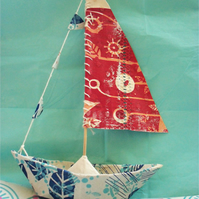 BOAT :: Papier Mache & Screen Printed