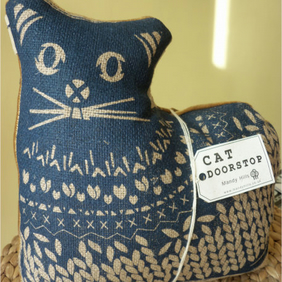 Screen Printed CAT DOORSTOP
