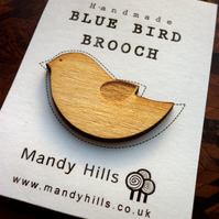Blue Bird Brooch