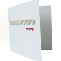 SALE Handmade letters wedding card - Prague