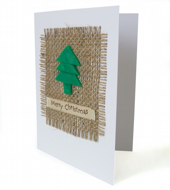 Christmas card with hessian - Christmas Valley