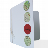 Naxos map birthday card