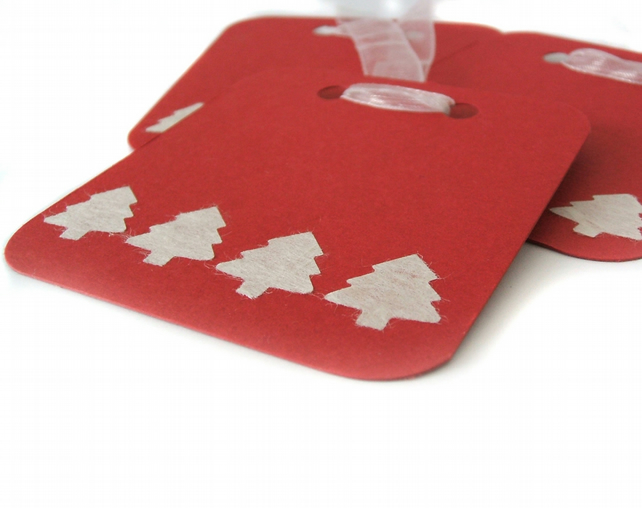Christmas tree gift tags pack of 4 - Santa Clarita