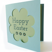 SALE - Papercut Easter card pastels - Orongo