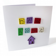SALE Colourful new home card - Hahn