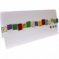 Multi-coloured congratulations card - Caracas