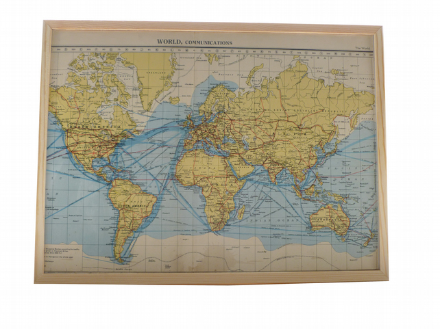 Magnetic memo board vintage world map - Agios