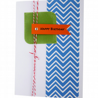 Handmade chevron birthday card - Pune
