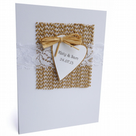 Rustic personalised wedding card - Los Angeles