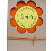 SALE Personalised birthday card with name - Oranjestad