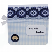 New baby card personalised with name - New Orleans