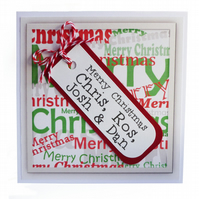 Personalised Christmas card - Silver City