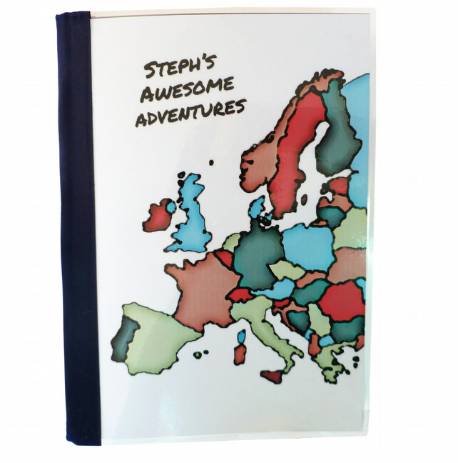Personalised travel journal artistic map - Ephesus