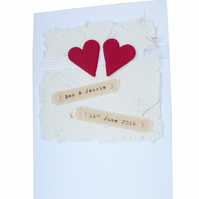 Personalised wedding card - Bruges