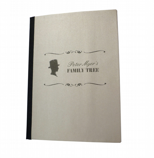 Family tree personalised notebook with foldout extra large page - Amman