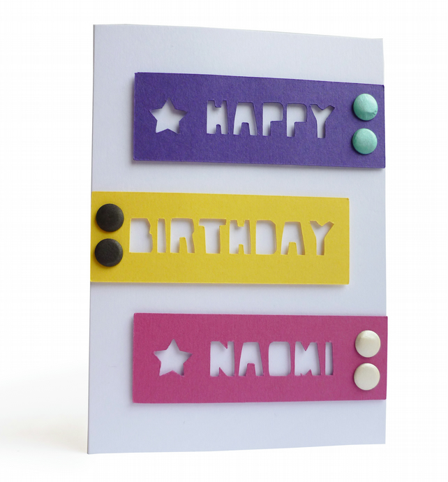 Personalised birthday card with name - Mona