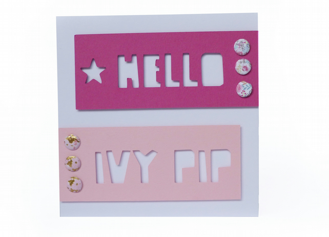 Personalised new baby card - Newborough