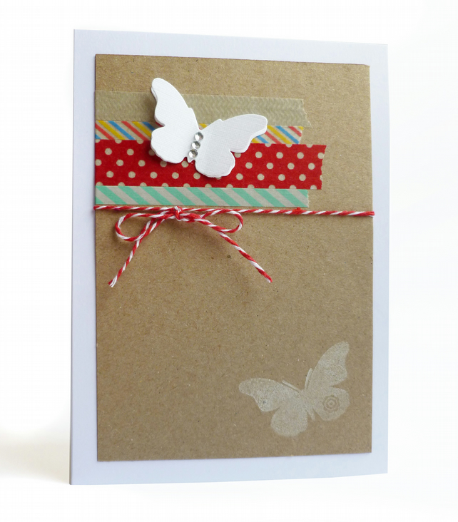 Pack of 4 butterfly notecards - Orsha
