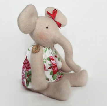Elephant with Cath Kidston Rosali Dress. Can be personalised