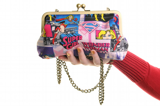 Girl Superhero Day Handbag & Clutch In One