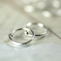 Comfortable 11 mm Hoop Earrings - Sterling Silver Sleepers - 1 Pair