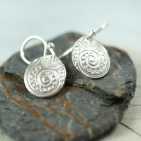 Fine Silver Dangle Drop Earrings. Delicate Bridal Jewellery