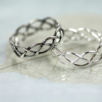 Silver Wire Ring in Celtic Braid - Entwined for Eternity - 5mm Wide