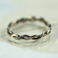 Delicate Gold and Sterling Twist Ring - Lightly Hammered - Your Size