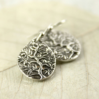 Tree Of Life Earring Drops - Fine Silver Jewellery