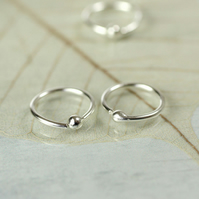 Comfortable 9mm Tiny Hoop Earrings - Sterling Silver Sleepers