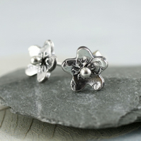 Little Daisy Studs in Sterling Silver
