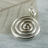 Classic Design - Spiral Pattern Pendant in Sterling Silver