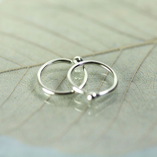 10 mm Tiny Hoop Earrings - Sterling Silver Sleepers