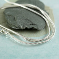Silver Snake Chain - 1.2 mm Thick - 46 cm long