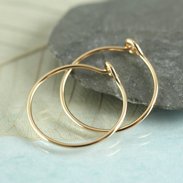 Gold Filled Hoops -Classic Sleeper Earrings