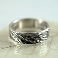 Free Spirit Grasses Ring - Sterling with Nature Impression