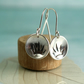 Cup Silver Earrings with Crown Design - For a Princess