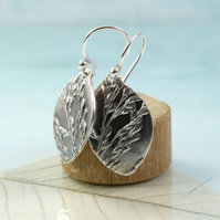 Wild grasses Earrings in Sterling and Fine Silver - Botanical Impression
