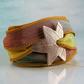 Bronze Maple Leaf Bracelet - Silk Ribbon Wrist Wrap - Yoga Jewellery