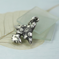 Silver Fairy Mushroom Pendant - Little Magic Charm for Pixies and Dryads