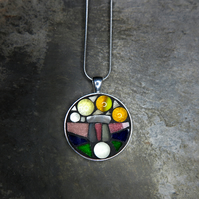 'Standing Stones' - Stained Glass Mosaic Pendant