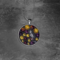 'Night Owl' - Stained Glass Mosaic Pendant