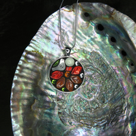 'Autumn Leaves' - Mosaic Pendant