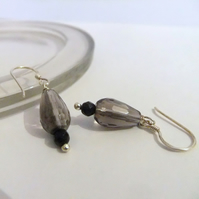 Smokey Quartz Sterling Silver Earrings