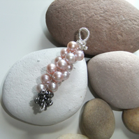 Twisted Stamen of Pearls Pendant