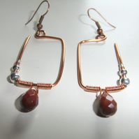 Mookaite Copper Angles, Earrings