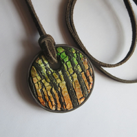 'Sunset through the Trees'  Pendant