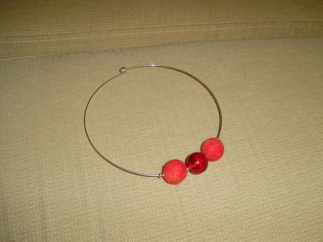 Handmade Felt Choker Necklace.
