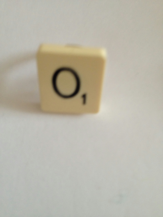 Handmade Scrabble Ring O.